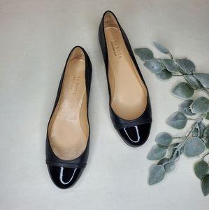 Talbots womens flats leather black sz 9.5 AA